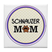 Schnauzer Dog Mom Tile Coaster