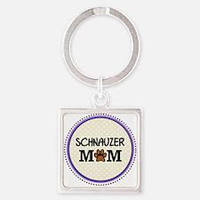 Schnauzer Dog Mom Keychains
