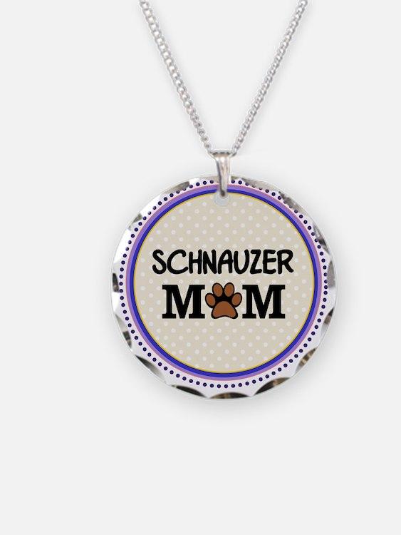 Schnauzer Dog Mom Necklace