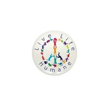 Live Life Humane Logo Mini Button