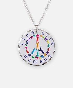 Live Life Humane Logo Necklace