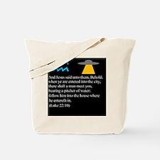 Luke 22:10 Aquarius Tote Bag