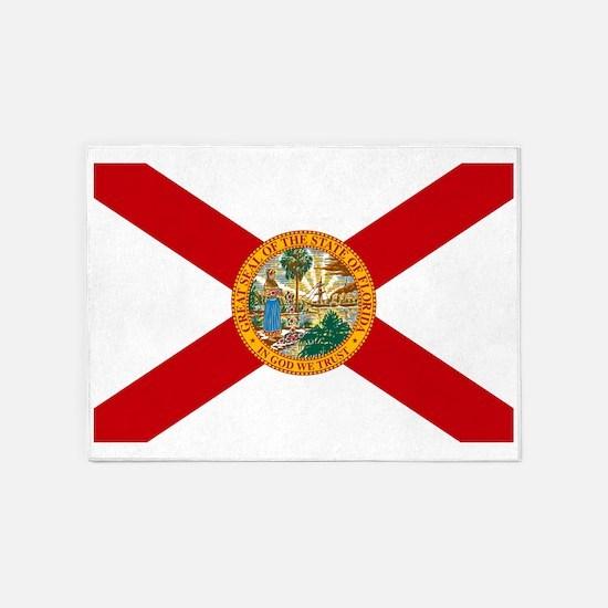 Florida State Flag 5'x7'Area Rug