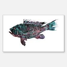 Black Sea Bass Sticker (Rectangle)
