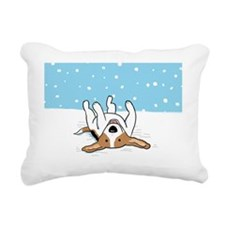 snowbeaglebank Rectangular Canvas Pillow