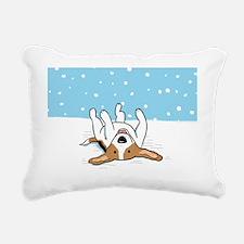 snowbeaglebank Rectangular Canvas Pillow