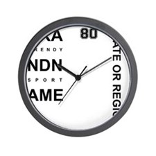 Brand Name - Too big for one line Wall Clock