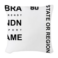 Brand Name - Too big for one l Woven Throw Pillow