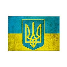 Ukraine Grunge Flag Rectangle Magnet