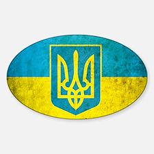 Ukraine Grunge Flag Decal