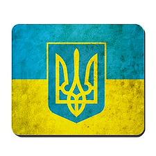 Ukraine Grunge Flag Mousepad