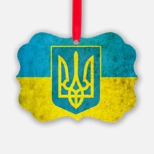Ukraine Grunge Flag Ornament