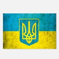 Ukraine Grunge Flag Postcards (Package of 8)