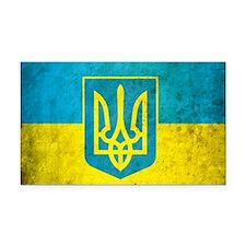 Ukraine Grunge Flag Rectangle Car Magnet