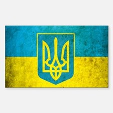 Ukraine Grunge Flag Decal