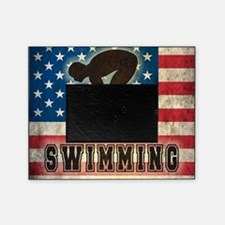 Grunge USA Swiumming Picture Frame