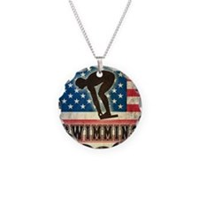 Grunge USA Swiumming Necklace