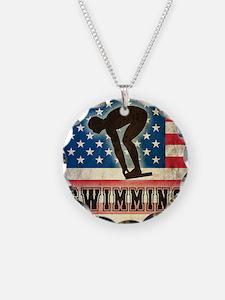 Grunge USA Swiumming Necklace