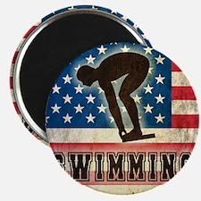 Grunge USA Swiumming Magnet