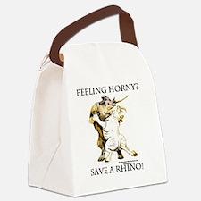 Feeling Horny? Save a Rhino! Canvas Lunch Bag