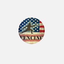 Grunge USA Fencing Mini Button