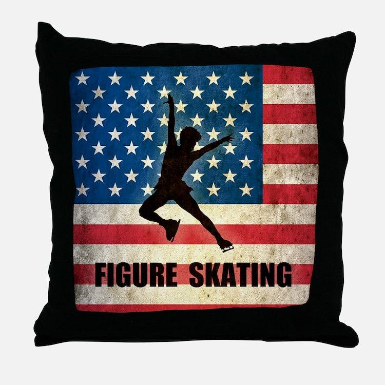 Figures Skating Throw Pillow