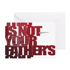 Not your fathers golf Greeting Card