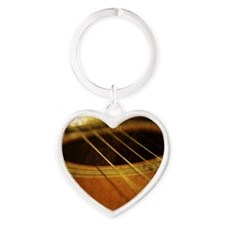 Guitar Heart Keychain
