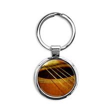 Guitar Round Keychain
