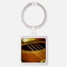 Guitar Square Keychain