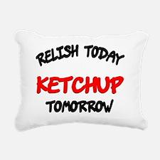 Relish Today Ketchup Tom Rectangular Canvas Pillow