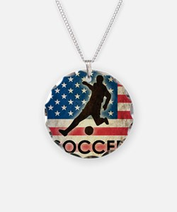 Grunge USA Soccer Necklace