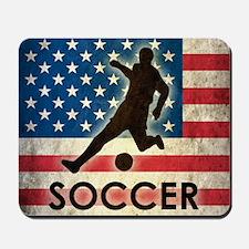 Grunge USA Soccer Mousepad