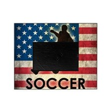 Grunge USA Soccer Picture Frame