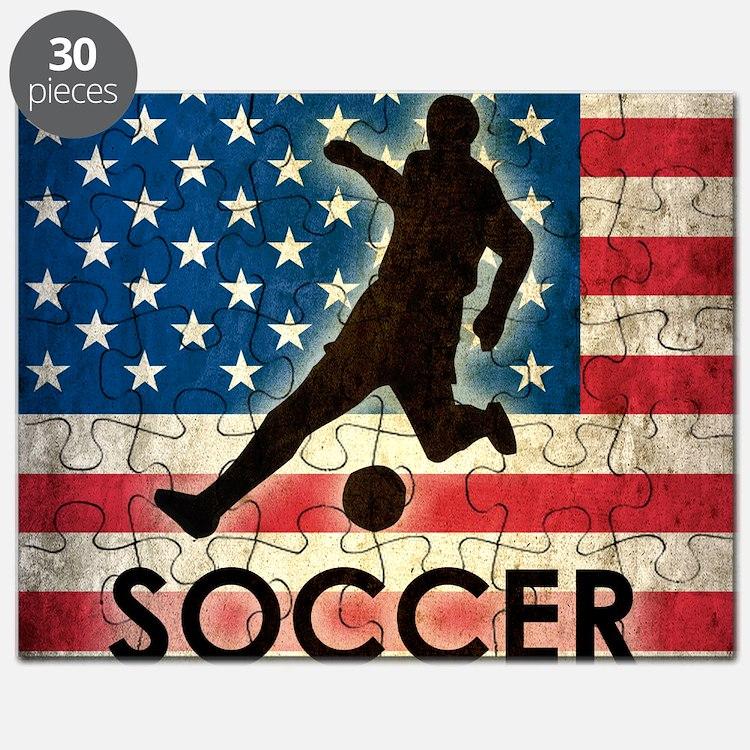 Grunge USA Soccer Puzzle