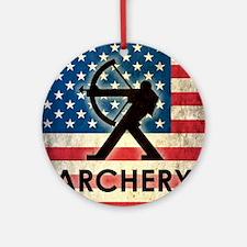 Grunge Archery Round Ornament