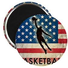 Grunge Basketball Magnet