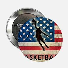 "Grunge Basketball 2.25"" Button"