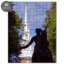 Boston-Paul Revere Silhouetted & Old North  Puzzle