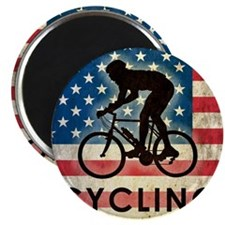Grunge Cycling Magnet