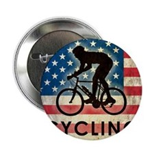 "Grunge Cycling 2.25"" Button"