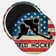 Grunge USA Hockey Magnet