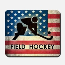 Grunge USA Hockey Mousepad