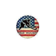 Grunge USA Hockey Mini Button