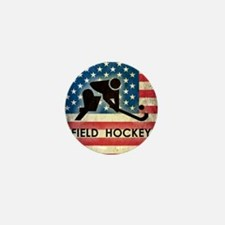 Grunge USA Hockey Mini Button