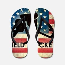 Grunge USA Hockey Flip Flops