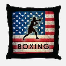 Grunge Boxing Throw Pillow