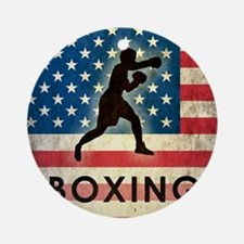 Grunge Boxing Round Ornament