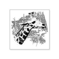 "Giraffe Art Square Sticker 3"" x 3"""