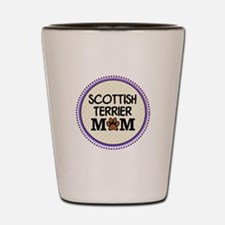 Scottish Terrier Dog Mom Shot Glass